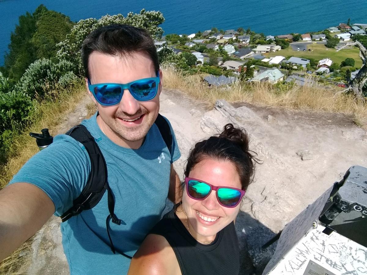 New Zealand selfie wearing goodr sunglasses