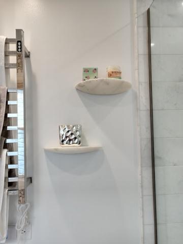 CB2 marble shelves